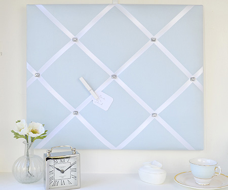 Powder Blue French Memo Board