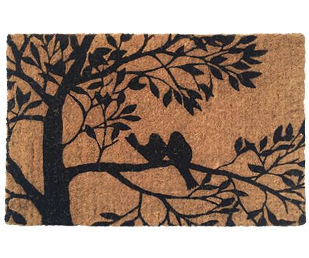 Two Birds in Tree Regular Coir Doormat