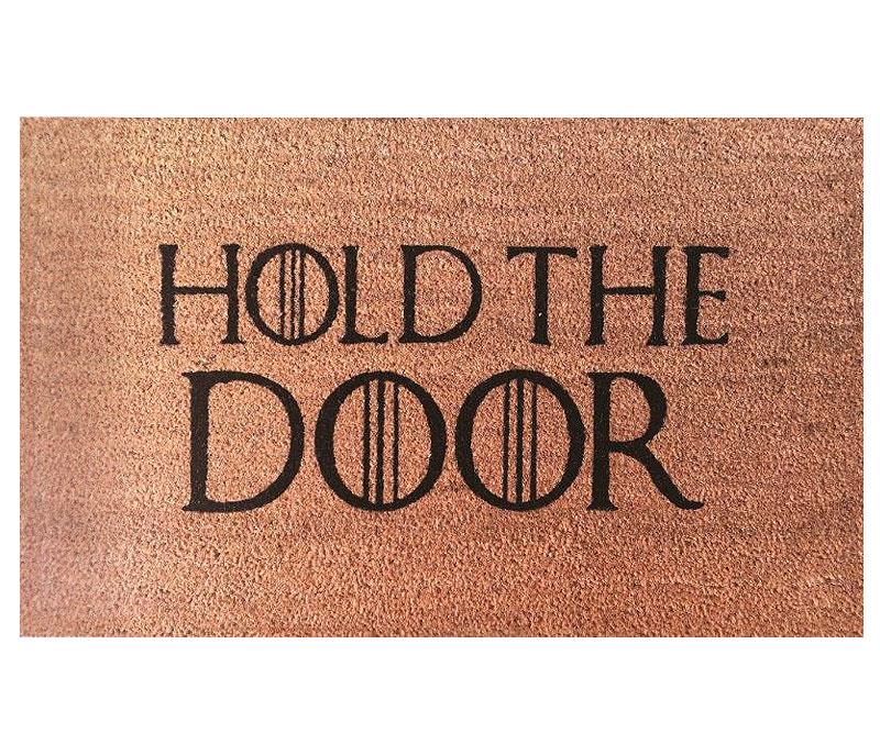 Hold the Door Regular Vinyl Backed Doormat