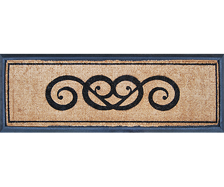 Citadel Scroll Long Rubber Backed Doormat