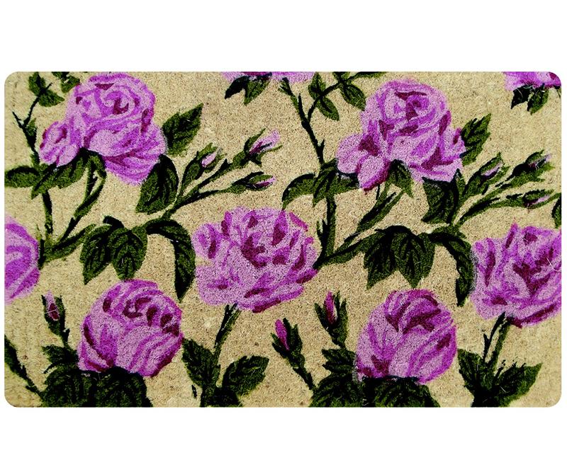 Aurora Roses 100% Coir Doormat