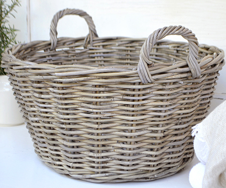 Laundry And Washing Baskets Classic Wicker In Antique