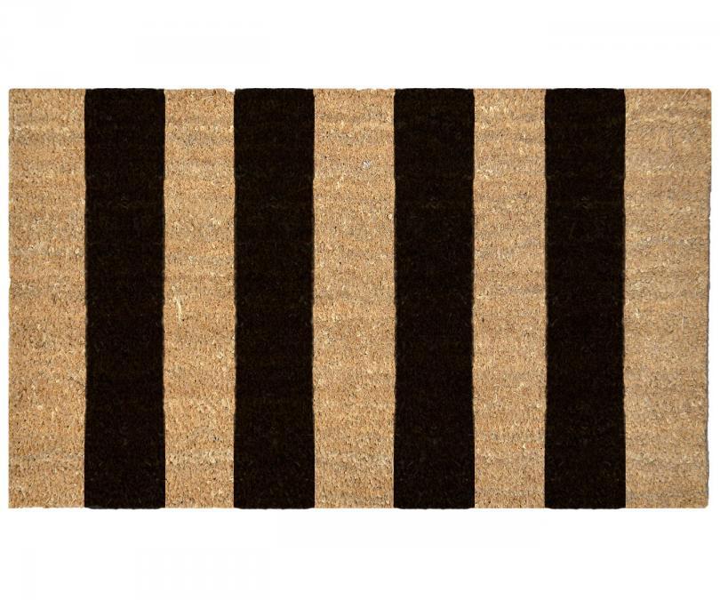 Black Stripes Regular Vinyl Backed Doormat