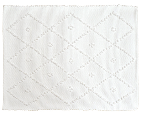 Diamond Bathmat White