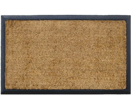 Plain Coir & Rubber Regular Doormat