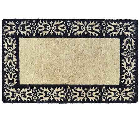 Classic Floral Border Vinyl Backed Doormat