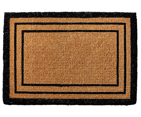 Tradi Black Border Large Doormat Vinyl Backed