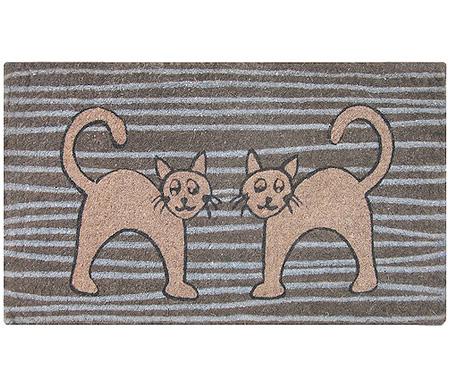 Stripey Cats Doormat - Regular
