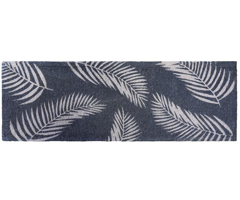 Long Havana Grey Palm Leaf Doormat - 100% Coir