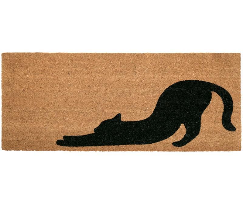 Stretching Cat Long Doormat