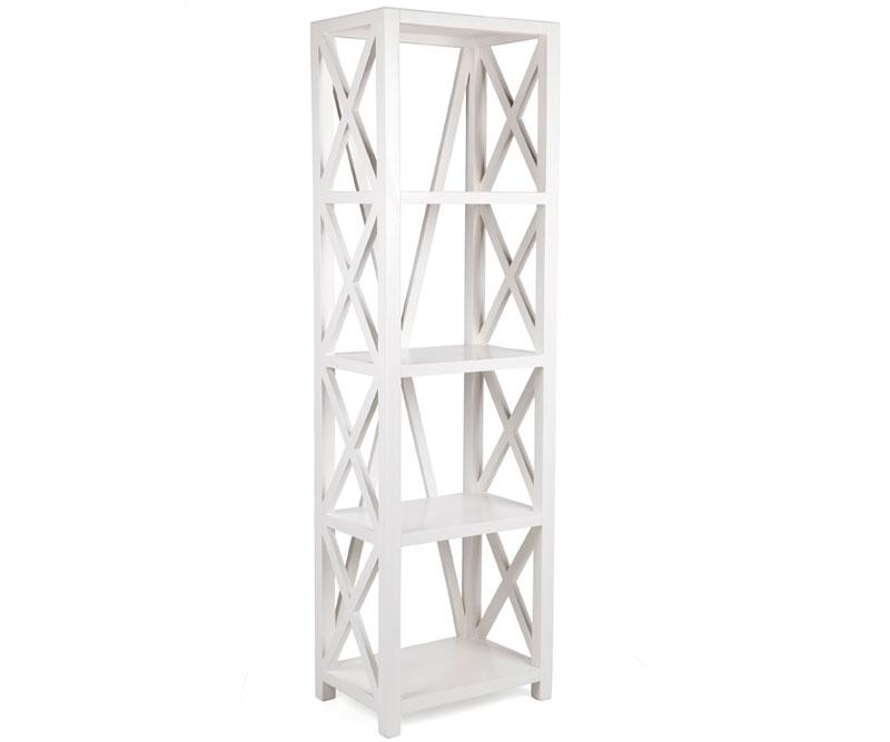 Somerville White Cross Bookshelf Tall