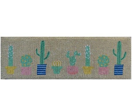 Summer Cactus Long Doormat