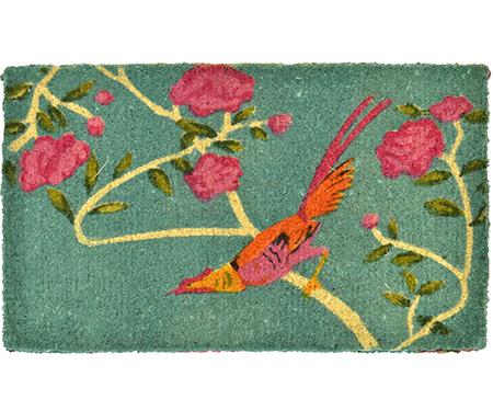 Turquoise Bird Regular 100% Coir Doormat