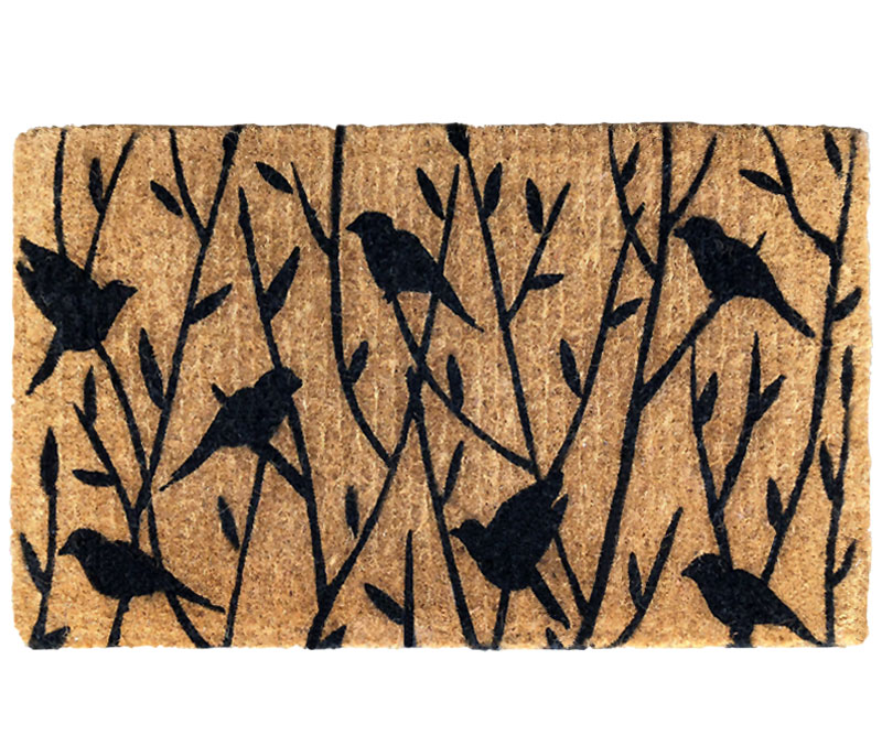 Nesting Birds In Branches 100% Coir Regular Doormat