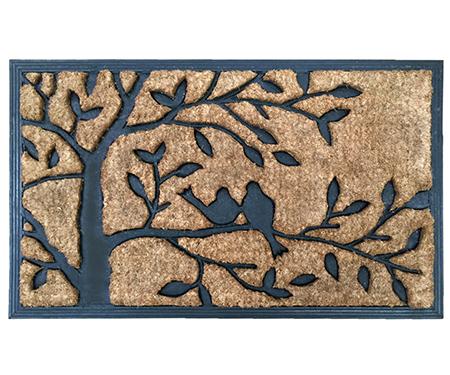 Two Birds in a Tree Rubber Backed Doormat
