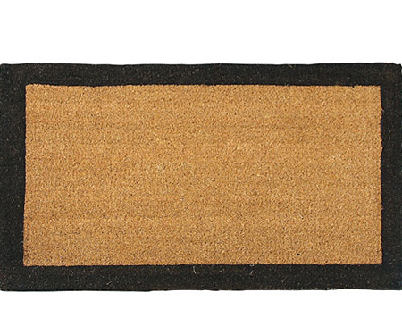Black Border Regular Coir Doormat