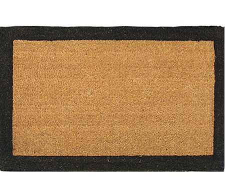 Large Black Border Doormat