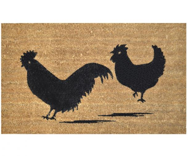 Gentil Farmhouse Rooster Doormat PVC Backed