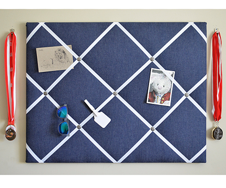 Dark Denim Fabric Notice Board