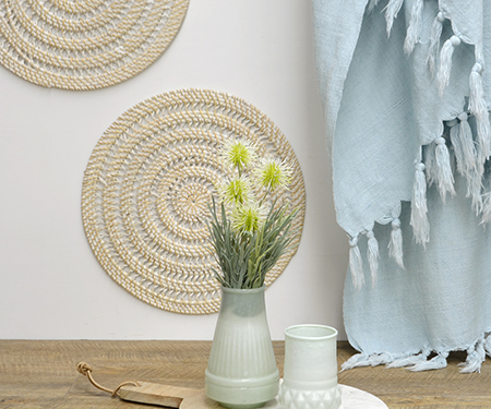 Round Rattan Wall Decor Or Placemat