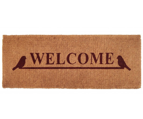 Birds Welcome Long 100 Coir Doormat
