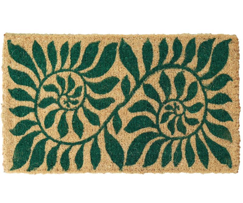 Green Fern Regular 100% Coir Doormat
