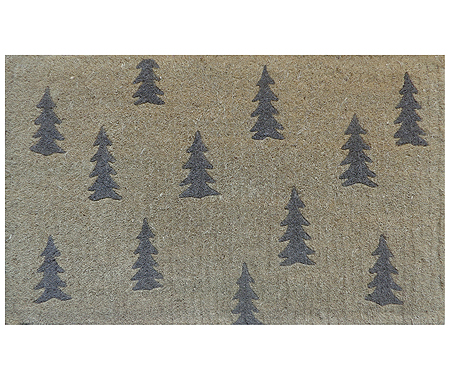 Scandi Grey Trees Doormat