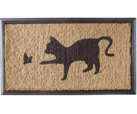 Cat & Butterfly Rubber Backed Doormat