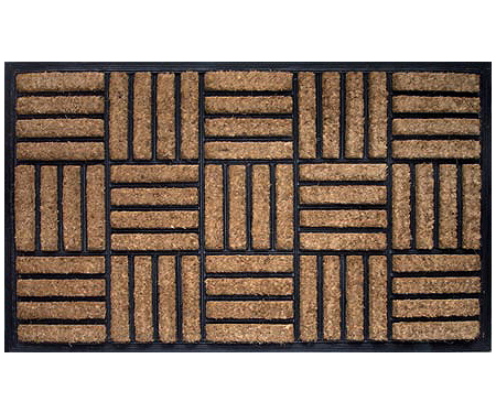 Rubber & Coir Crosshatch Doormat - Regular