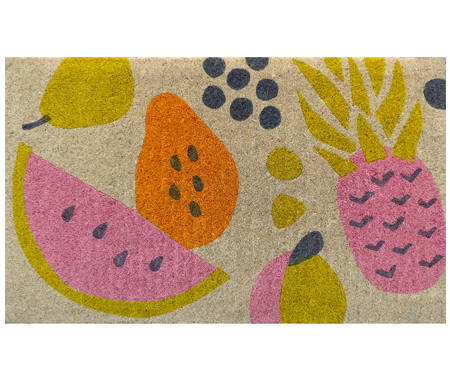 Tropical Fruit 100% Coir Doormat