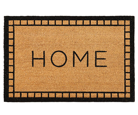 Tradi Black Border Home Doormat Large