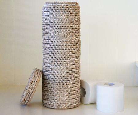 Rattan Toilet Roll Holder