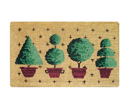 Classic Topiaries Regular Door Mat