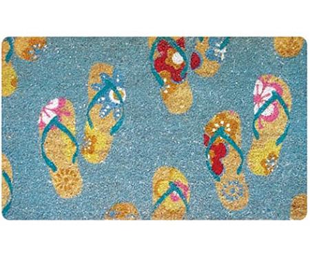 Flip Flops Vinyl Backed Doormat - Regular