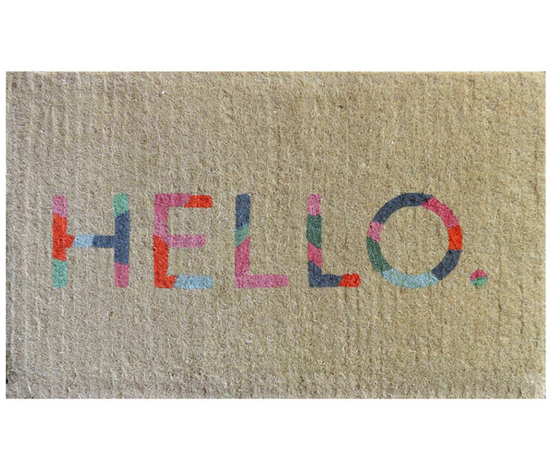 Colour Hello Doormat - Regular