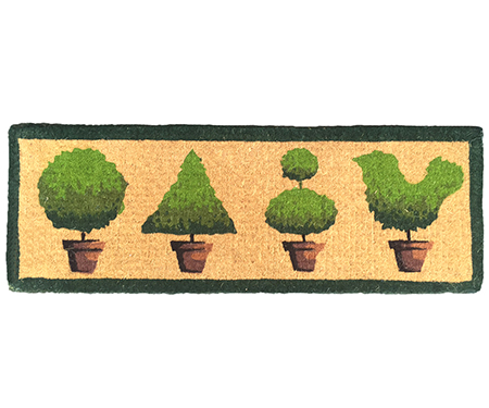 French Topiary Row Long Doormat