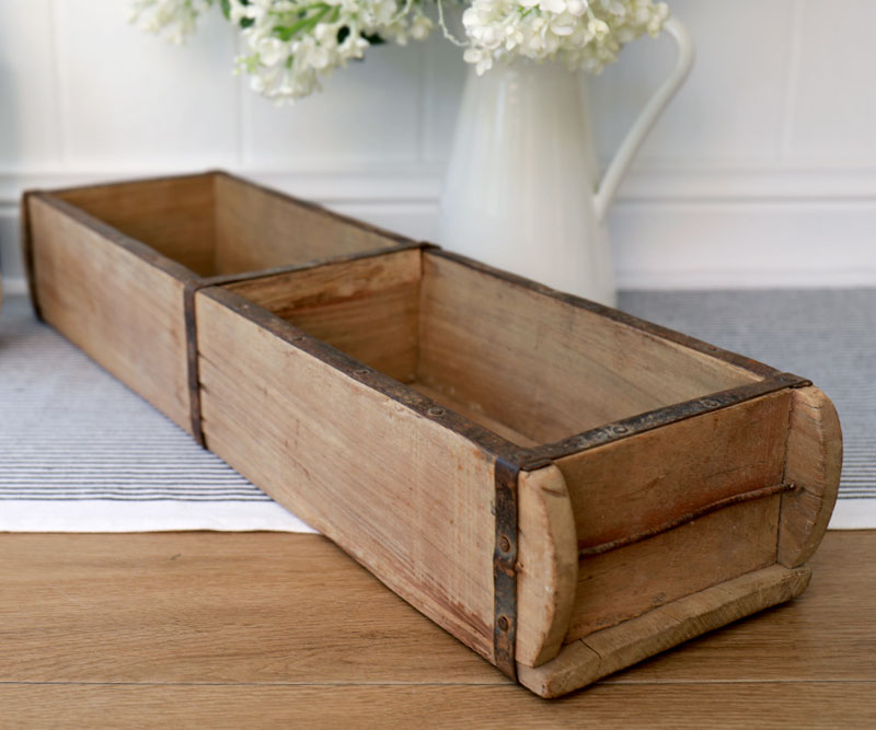 Brick Mould Vintage Wooden Box Tray Double Christmas Gift Ideas