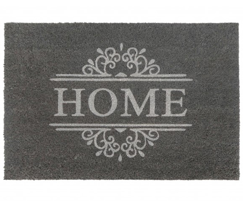 Classic grey home large vinyl backed doormat for Classic house vinyl