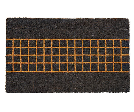 Malmo Charcoal Check Regular Doormat