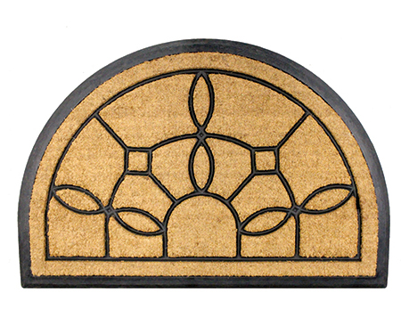 Jardin Half-Round Large Rubber Backed Doormat