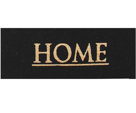 Classic Home Black Doormat - Long