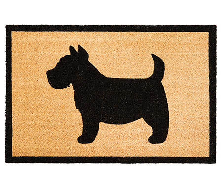 Scotty Dog Silhouette Large Doormat PVC Backed