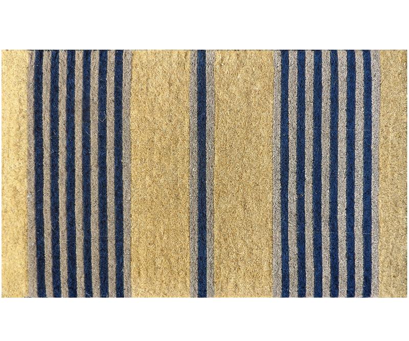 Classic Navy Stripe 100% Coir Doormat