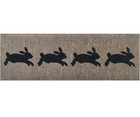 Leaping Rabbits Long Doormat