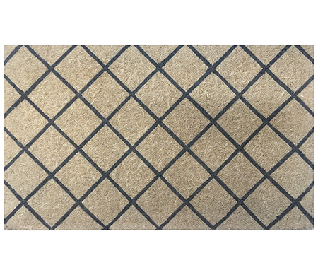Trellis Charcoal 100% Coir Regular Doormat