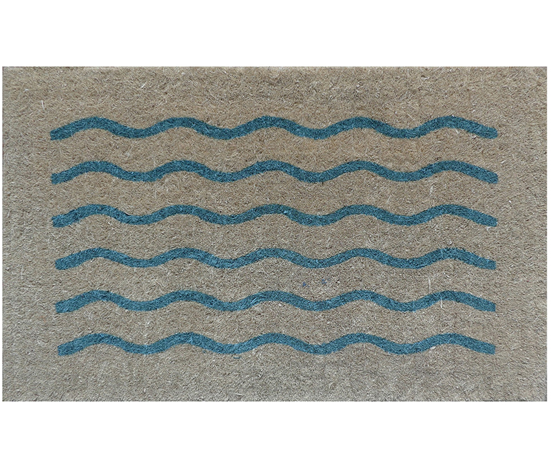 Bondi Blue Waves Grey Doormat