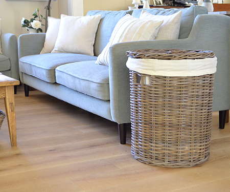 Round rattan laundry basket with lid large - Round wicker hamper with lid ...