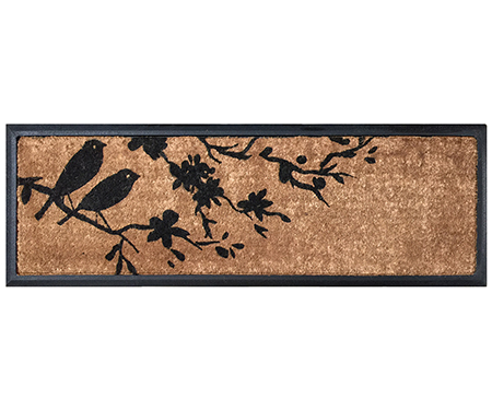 Birds on Flowering Branch Long Doormat