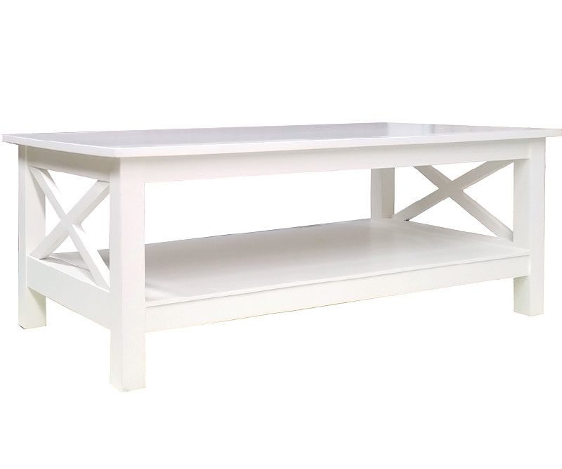 Somerville White Cross Coffee Table