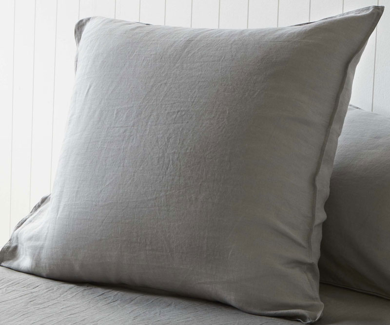 Set 2 Euro Pillowcases Storm Grey